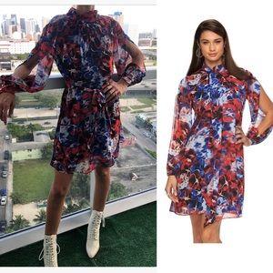 Floral chiffon summer dress